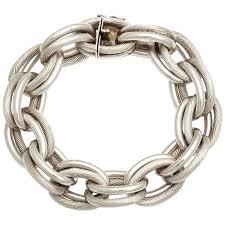 silver bracelet chains images Vintage hermes heavy linked silver chain bracelet at 1stdibs jpg