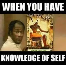 Knowledge Meme - when you have neaa ch knowledge of self dank meme on sizzle