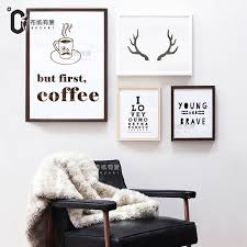 deer home decor but first coffee deer art print typography posters canvas pictures