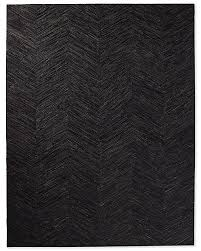 Modern Black Rug Cowhide Fino Rug Collection Rh Modern