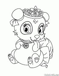 coloring page panda blossom
