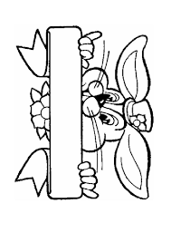 easter bunny coloring page easter coloring pages pinterest
