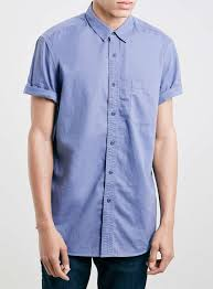 Soft Blue Color 2015 Light Blue Color Short Sleeves 100 Cotton Soft Blank Shirt