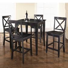 High Top Table Set Vintage Dining Room Design With 5 Piece Crosley Kitchen Pub Tables