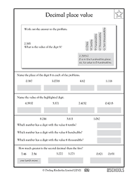 ideas of decimal place value worksheets 5th grade for your