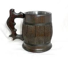 Wooden Groomsmen Gifts Personalized Beer Mug Wooden Beer Mug 0 7l 23oz Tankard Groomsmen