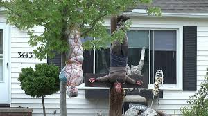 family removes controversial halloween display over concerns for