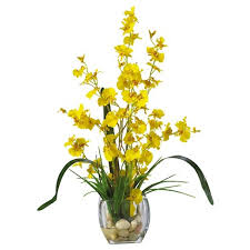 yellow orchid nearly orchid liquid illusion silk flower