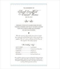 church wedding program template wedding program templates free premium templates