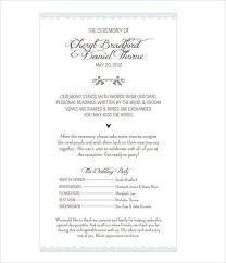 reception program template wedding program templates free premium templates