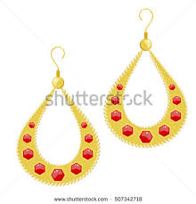 golden earrings gold earrings stock images royalty free images vectors
