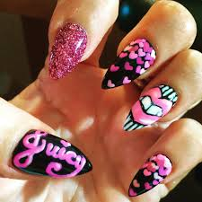 27 pink and black nail art designs ideas design trends