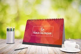 free table calendar mockup psd graphic google free photoshop