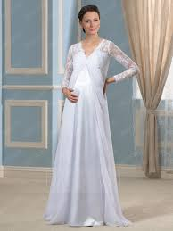 wedding dresses maternity modern v neck sleeves lace a line maternity wedding dress