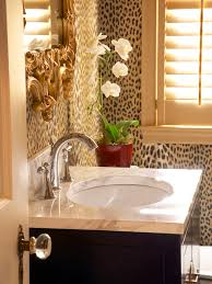 Cheetah Print Bathroom by Animal Print Wallpaper Houzz