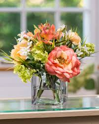 flower arrangements vibrant rose ranunculus silk flower arrangement at petals