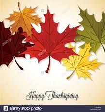 thanksgiving vector art maple leaf happy thanksgiving card in vector format stock vector