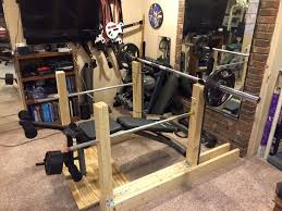 Diy Wood Squat Rack Plans by 12 Best Wooden Squat Rack Images On Pinterest Squats Garage Gym
