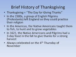 brief history of thanksgiving thanksgiving the day for giving