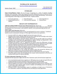 Best Profile Summary For Resume It Business Analyst Resume Resume Template Catchy For Business