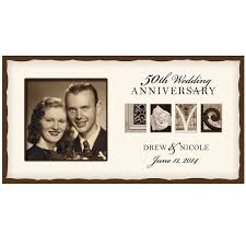 Personalized Wedding Photo Frame Personalized Wedding Love Photo Frame 50th Golden Wedding