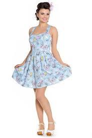 Light Blue Mermaid Dress Hell Bunny Andrina Mermaid Mini Light Blue Dress
