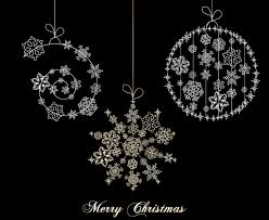 black and white christmas ornament sets