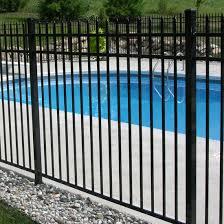 allure aluminum worthington 4 ft x 6 ft black aluminum 3 rail fence city fence aluminum fence pool fence vinyl fence wood