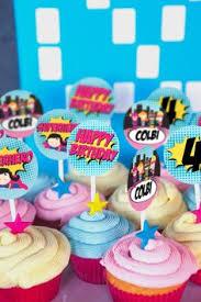 girly superhero party cupcakes u0026 cake pops nashvillesweets com