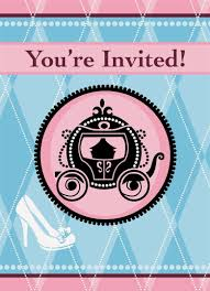 cinderella birthday party invitations page two birthday wikii