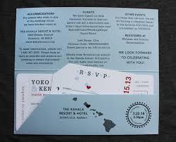wedding invitations hawaii sky blue gray hawaii world map airline ticket wedding