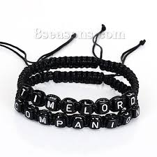 bracelet beads string images Wholesale polyester companion timelord letter beads string braided JPG