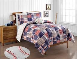 Comforter Ideas Boys And S by Red White Blue Baseball Bedding Twin Or Full Patwork Plaid