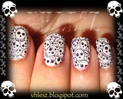 skull nail art decals choice image nail art designs