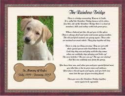 loss of pet personalized pet memorial poem for loss of dog the rainbow bridge