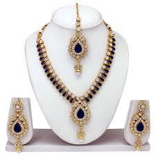 necklace set blue stone images Buy atasi international blue stone necklace set product code jpg