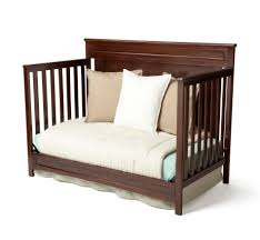 Bed Side Cribs by Delta Children Princeton 4 In 1 Fixed Side Convertible Crib Dark