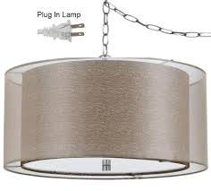 Burlap Chandelier Shades Double Drum Swag Lamp Golden Sheer Organza Burlap Lamp Shade Pro