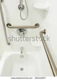 Bathtub Grab Bars Handicapped Disabled Access Bathroom Bathtub Grab Stock Photo