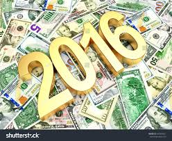 new year dollar bill 2016 new year on heap dollar stock illustration 347834051