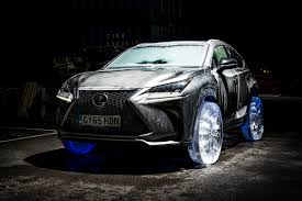 lexus crossover 2015 lexus makes wheels out of ice for its nx luxury crossover