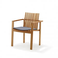 amaze teak dining chair incl seat cushion real patio living