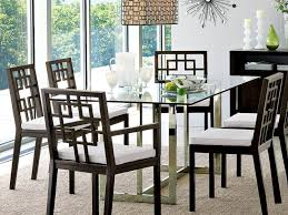 kitchen 81 small modern glass dining table with lucite bases and