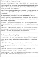 ten facts about thanksgiving musely