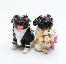 pug wedding cake topper 28 images pug wedding cake topper by