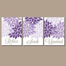 nice purple wall art for bathroom m97 in small home decor