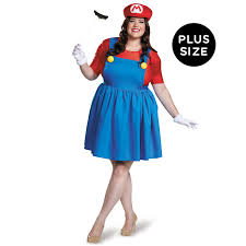 super mario plus size mario costume w skirt for women