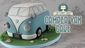 volkswagen van hippie blue campervan cake volkswagen vw camper van birthday cake youtube