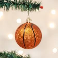 amazon com old world christmas basketball glass blown ornament