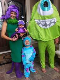 monsters inc halloween costumes adults sully halloween costume coolest diy mike wazowski and celia mae